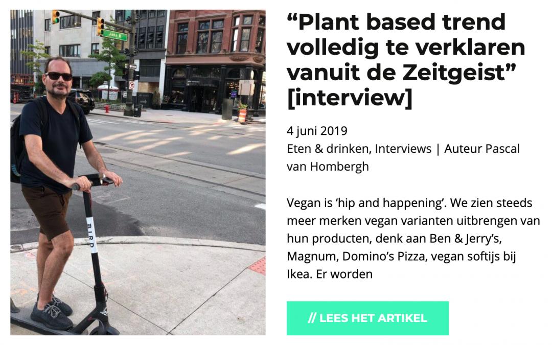 Plant-based trend te verklaren vanuit Tijdgeest
